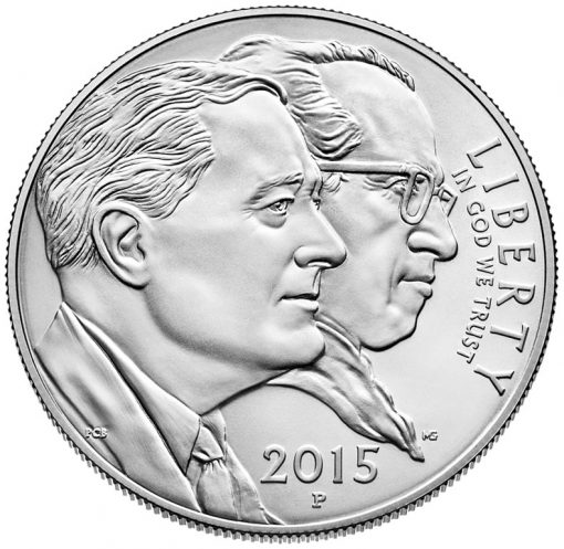 2015-P Uncirculated March of Dimes Silver Dollar - Obverse