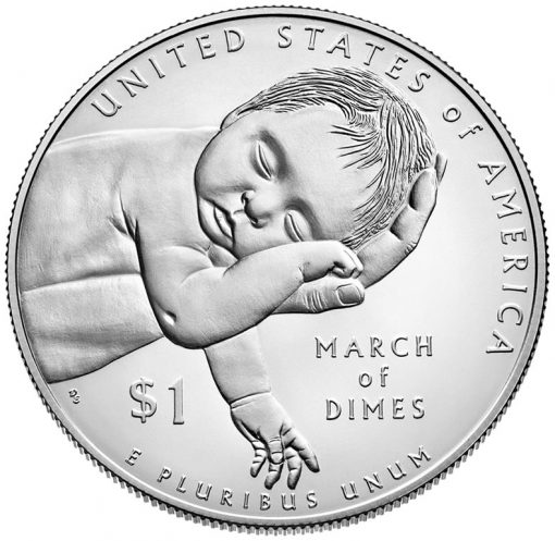 2015-P Uncirculated March of Dimes Silver Dollar - Reverse
