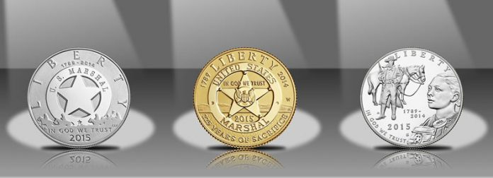 2015 Proof US Marshals Service 225th Anniversary Commemorative Coins - Obverses