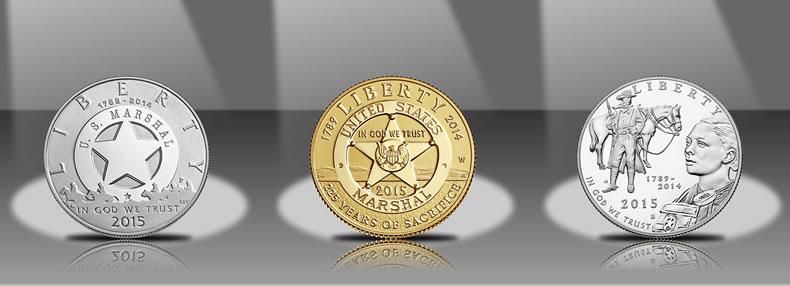 Marshals 225th Anniversary Proof Commemorative clad half dollar 2015-S U.S
