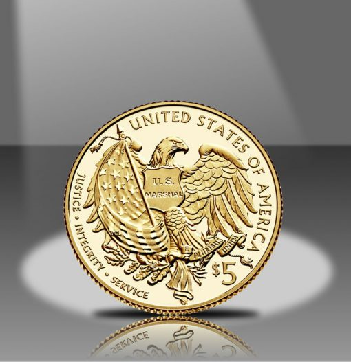 2015-W $5 Proof US Marshals Service 225th Anniversary Gold Coin Reverse