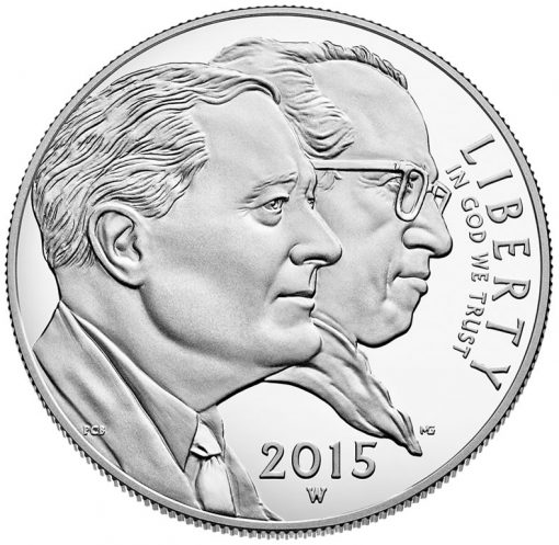 2015-W Proof March of Dimes Silver Dollar - Obverse