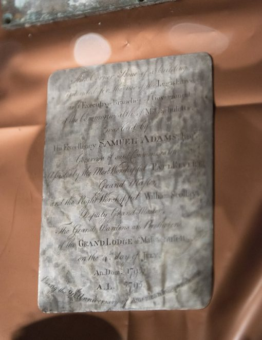 Silver plaque thought to be engraved by Paul Revere