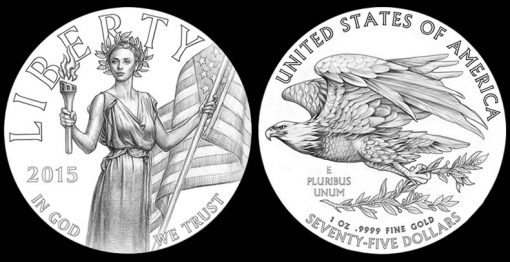 Likely Designs for 2015 High Relief Gold Coin and 2015 High Relief Silver Medal]