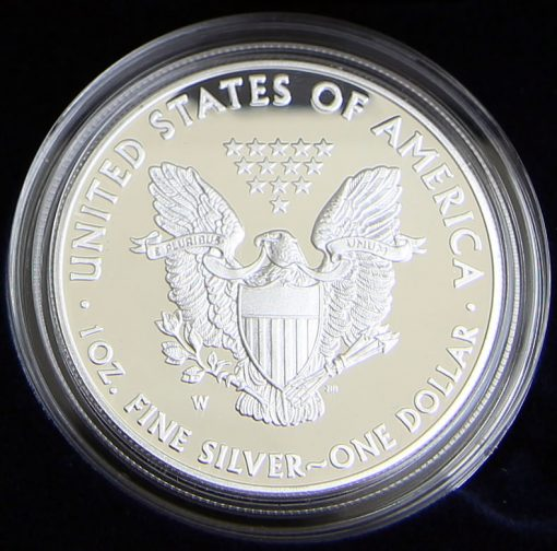 Photo of a 2015-W Proof American Silver Eagle (Reverse Side)