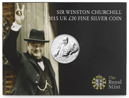 Presentation Card for 2015 Sir Winston Churchill Silver Coin