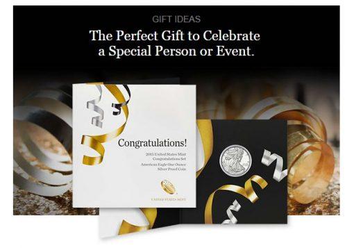 U.S. Mint promotion image of the 2015 Congratulations Set