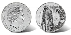 UK 2015 £100Big Ben Silver Coin for £100