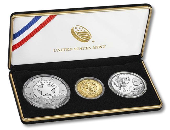 US Marshals Service 225th Anniversary Three Coin Proof Set