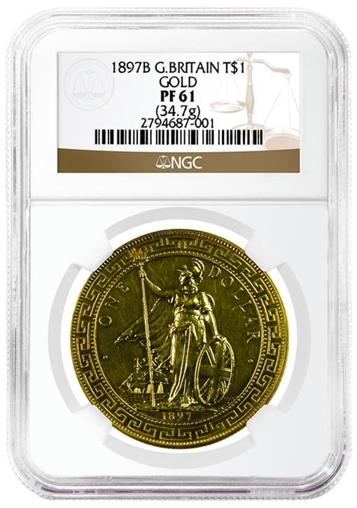 1897B British Gold Trade Dollar, obverse