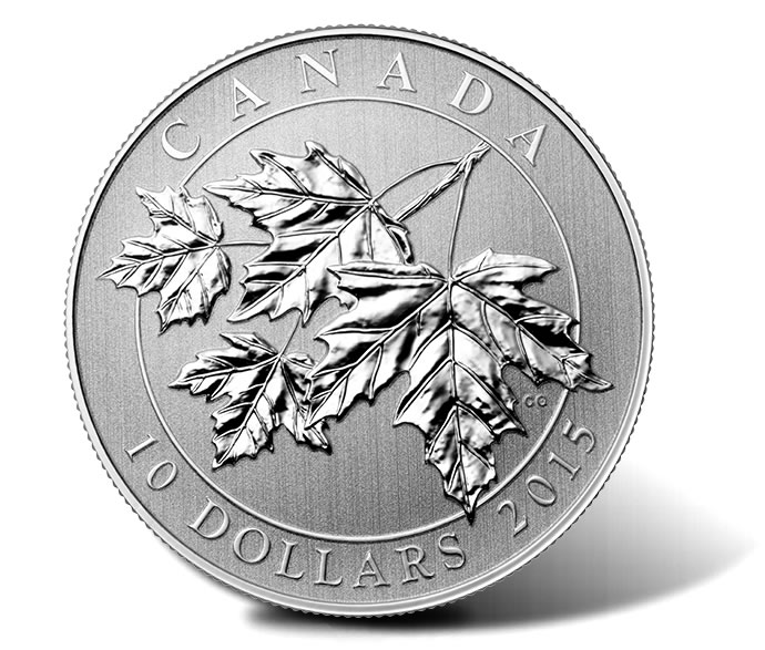 2015 $10 Silver Maple Leaves Coin