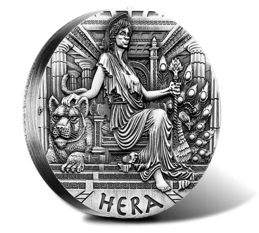 2015 $20 Hera Silver High Relief Coin