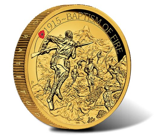 2015 $200 Baptism of Fire Gold Proof High Relief Coin