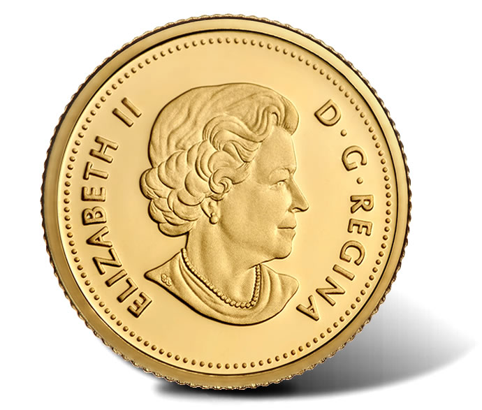 2015 25c Canadian Rock Rabbit 0.5g Gold Coin - Obverse