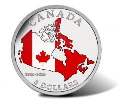 2015 $3 Coin for 50th Anniversary of Canadian Flag