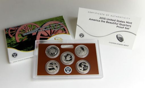 2015 America the Beautiful Quarters Proof Set - Packaging, Lens and Certification