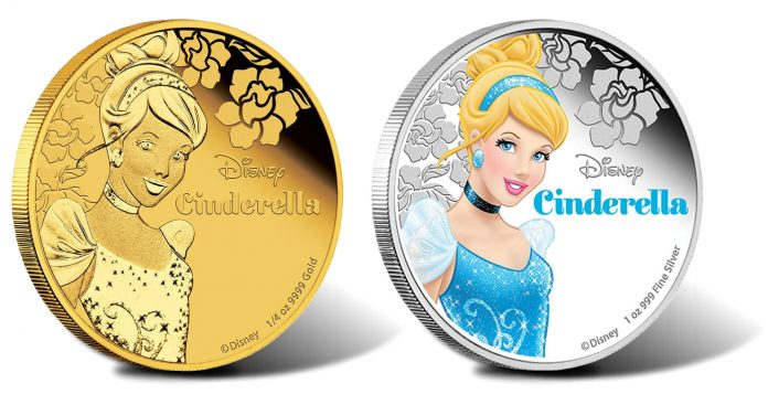 2015 Disney Princess Cinderella Gold and Silver Proof Coin