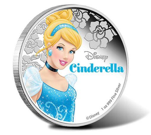 2015 Disney Princess Cinderella Silver Proof Coin