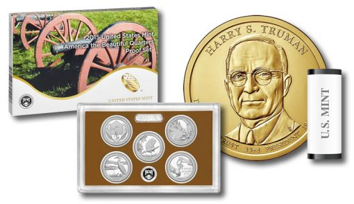2015 Quarters Proof Set and Truman $1 Coin
