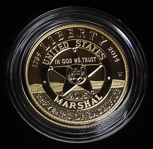 2015-W $5 Marshals Gold Proof Coin