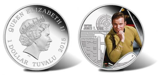 Captain James T. Kirk 2015 1oz Silver Proof Coin