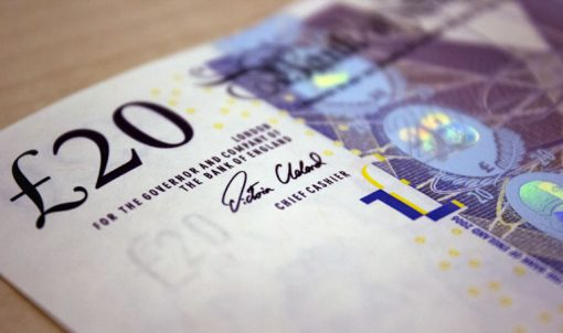 Cleland Signed £20 note