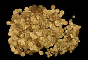 Hoard of Gold Coins Discovered in Ancient Harbor