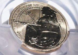 Mint Error 2014-D $1 Native American Dollar Missing Edge Lettering