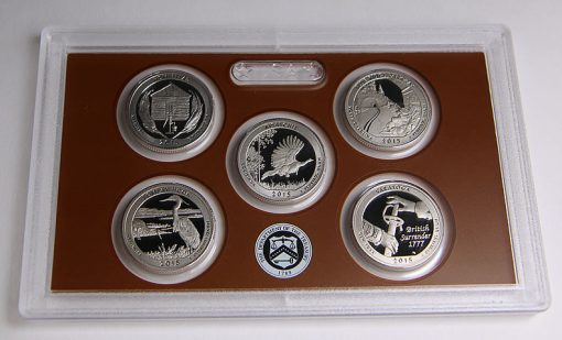 Photo of clad 2015 America the Beautiful Quarters Proof Set