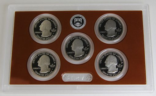 Photo of clad 2015 America the Beautiful Quarters Proof Set, Obverse Side - 01