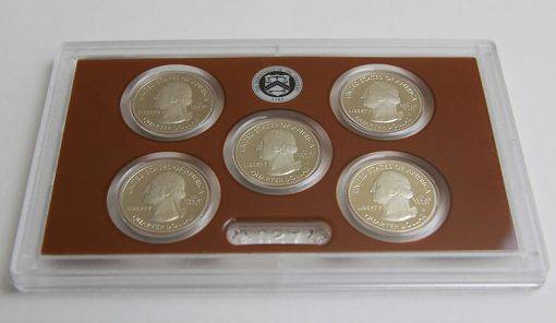 Photo of clad 2015 America the Beautiful Quarters Proof Set, Obverse Side