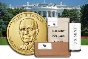 Harry S. Truman Presidential $1 Coins in Rolls, Bags and Boxes