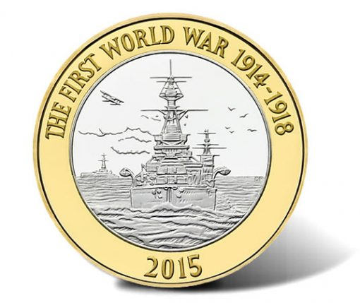 Royal Navy 2015 £2 BU Commemorative Coin