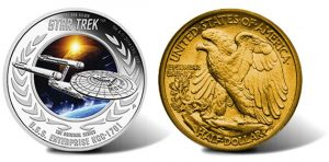 Star Trek coin and 1916 coin design