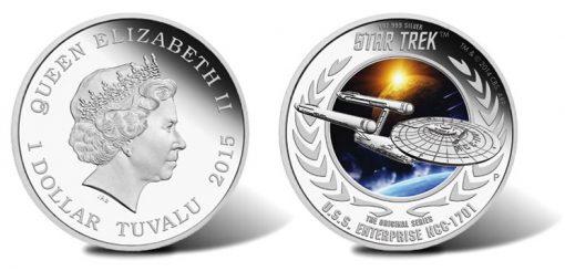 U.S.S. Enterprise NCC-1701 2015 1oz Silver Proof Coin