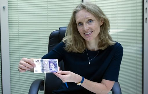 Victoria Cleland and the new £20 note