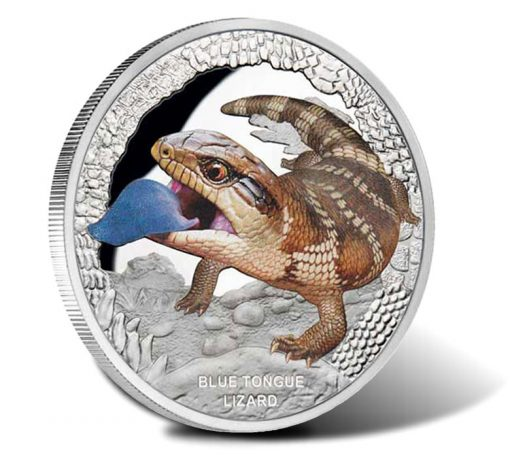 2015 $1 Blue Tongue Lizard 1 Oz Silver Proof Coin