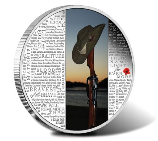 2015 $30 Lest We Forget 1 Kilo Silver Proof Coin
