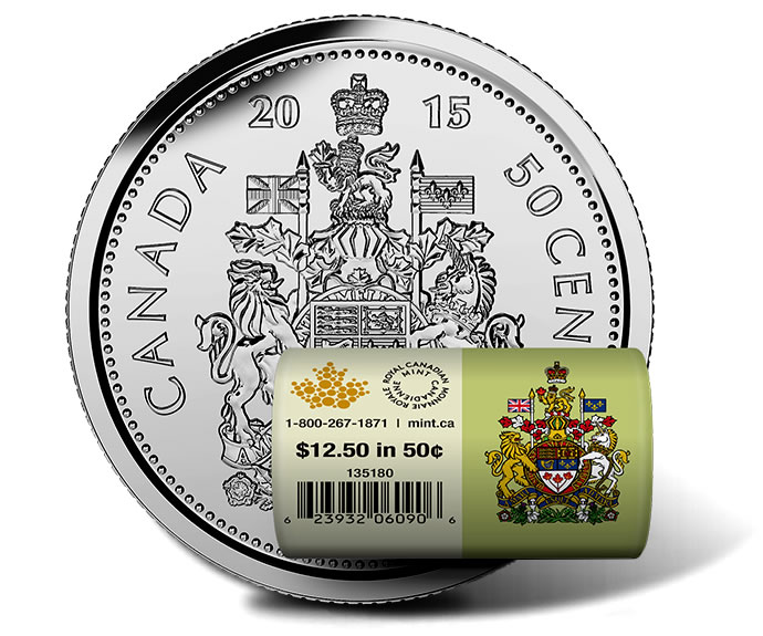2015 Canadian 50c Special Wrap Circulation Roll