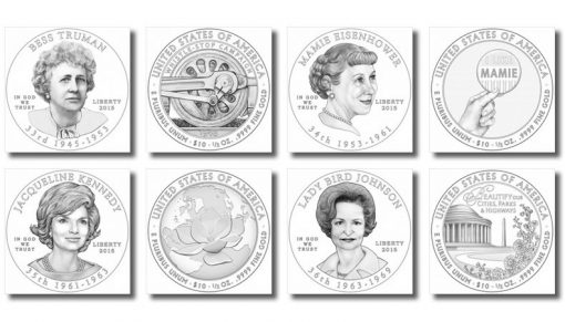 2015 First Spouse Gold Coin Designs