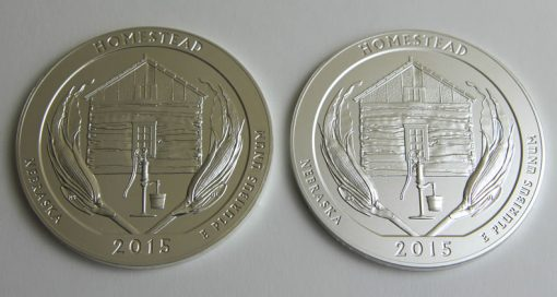 2015 Homestead 5 Oz Silver Bullion and Uncirculated Coins, Reverses-a