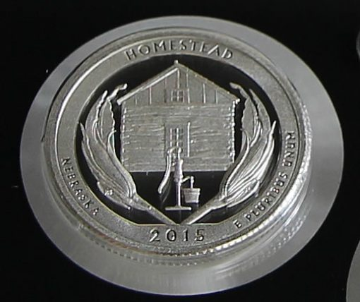 2015 Homestead National Monument of America Silver Quarter