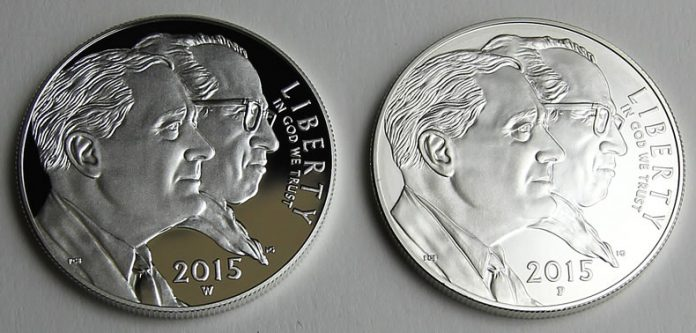 2015 March of Dimes Silver Dollars - Proof and Uncirculated, Obverse Sides