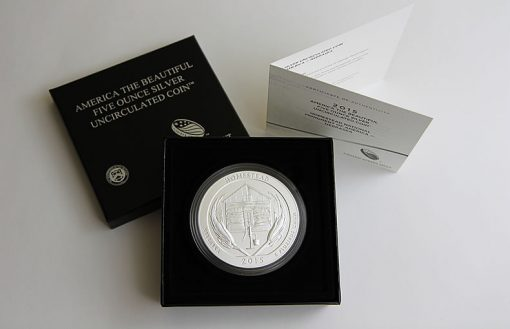 2015-P Homestead 5 Oz Silver Uncirculated Coin, Case and Certificate