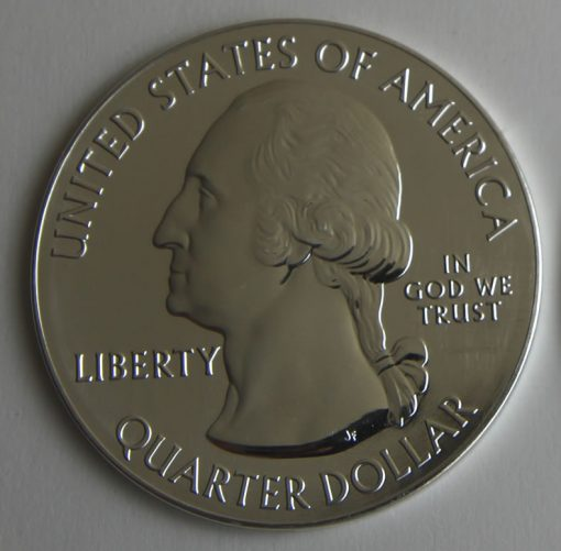 2015-P Homestead National Monument of America Five Ounce Silver Bullion Coin, Obverse