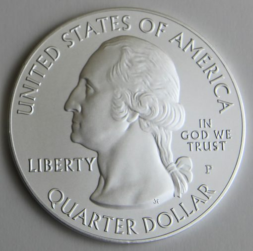 2015-P Homestead National Monument of America Five Ounce Silver Uncirculated Coin, Obverse
