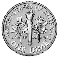 2015-P Reverse Proof Roosevelt Silver Dime - Reverse