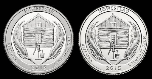 2015 Proof and Uncirculated Homestead National Monument of America Quarters