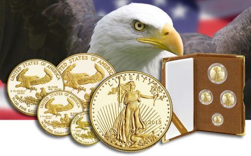 2015-W Proof American Gold Eagles and Presentation Case
