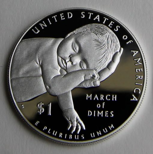 2015-W Proof March of Dimes Silver Dollar - Reverse